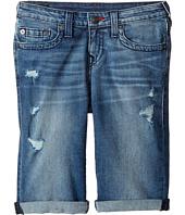 True Religion Kids - Geno Single End Shorts in Used Wash (Big Kids)