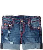 True Religion Kids - Audrey Super T Boyfriend Shorts in Used Wash (Toddler/Little Kids)