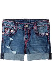 True Religion Kids - Audrey Super T Boyfriend Shorts in Used Wash (Toddler/Little Kids)