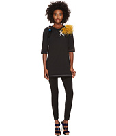 Sonia Rykiel - Runway Embroidered Cotton Jersey w/ Feathers Tee