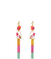 Betsey Johnson - Tropical Bird Linear Earrings