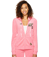 Juicy Couture - Venice Beach Patches Microterry Puff Sleeve Jacket