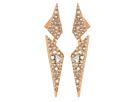 Crystal Encrusted Dangling Origami Post Earrings