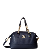 Tommy Hilfiger - Almira Pebble Leather Small Convertible Satchel