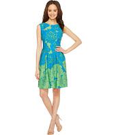 Taylor - Rose Print Fit & Flare Scuba Dress