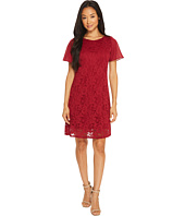 Taylor - Textured A-Line Lace Dress with Chiffon Sleeves