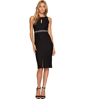 ROMEO & JULIET COUTURE - Front Keyhole and Beaded Belt Dress
