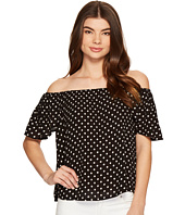 ROMEO & JULIET COUTURE - Polka Dot Off the Shoulder Top
