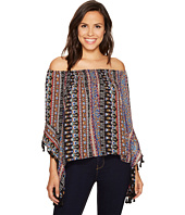 ROMEO & JULIET COUTURE - Printed Top with Tassels