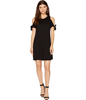 kensie - Drapey French Terry Dress with Cold Shoulder Tie Detail KS8K9887