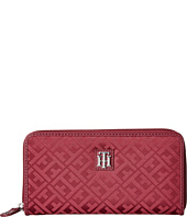 Tommy Hilfiger - Serif Signature Jacquard Zip-Around Wallet