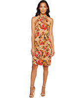 Taylor - Floral Knot Neck Midi with Triple Keyhole