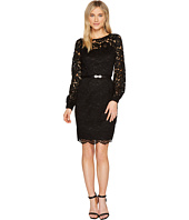Ellen Tracy - Lace Dress with Embellished Belt