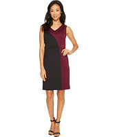 Ellen Tracy - Color Block Dress with V-Neck
