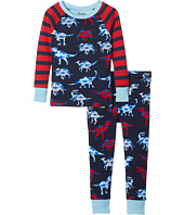 Hatley Kids - Lots of Dinos Raglan PJ Set (Toddler/Little Kids/Big Kids)
