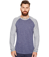Original Penguin - Long Sleeve Plaited Slub Baseball Knit