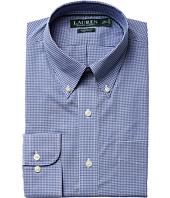 LAUREN Ralph Lauren - Classic Fit Non Iron Gingham Plaid Button Down Collar Dress Shirt