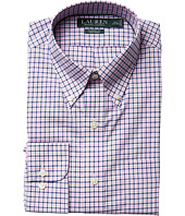 LAUREN Ralph Lauren - Classic Fit Poplin Plaid Button Down Collar Dress Shirt