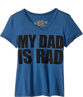 The Original Retro Brand Kids - My Dad is Rad V-neck Tee (Big Kids)