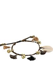 Chan Luu - Pull Tie Bracelet w/ Shells, Tassels