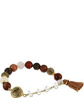 Chan Luu - Stretch Bracelet w/ Tassel & Semi Precious Stone