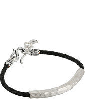 Chan Luu - Leather Braided Bracelet w/ Sterling Silver Hammered Bar