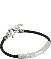 Chan Luu - Leather Braided Bracelet w/ Sterling Silver Hammered Bar