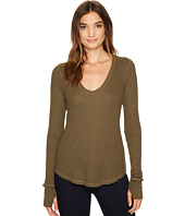 Splendid - Low V-Neck Long Sleeve