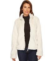 Dylan by True Grit - Textured Silky Faux Fur Zip Jacket