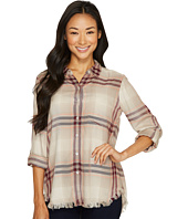 Dylan by True Grit - Fringed Rayon Plaid Shirt