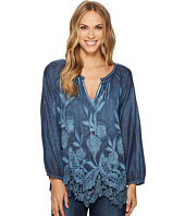 Dylan by True Grit - Hudson Cotton Silk Pintuck Top