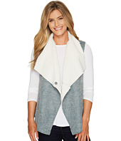 Dylan by True Grit - Distressed Bonded Sherpa Snap Vest