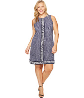 MICHAEL Michael Kors - Plus Size Cheetah Sleeveless Border Dress