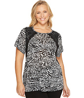 MICHAEL Michael Kors - Plus Size Big Cat Lace Crew Tee