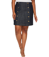 MICHAEL Michael Kors - Plus Size Button Detail Mini Skirt