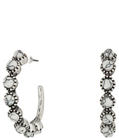 M&F Western - Hoops with Round Stones Earrings