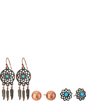 M&F Western - Blazin Roxx 3-Pair Earring Set