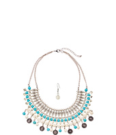 M&F Western - Turquoise and Ivory Collar/Earrings Set