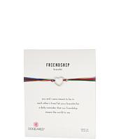 Dogeared - Friendship Linked Open Hearts Rainbow Bracelet