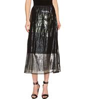 McQ - Lurex Fluid Gather Skirt