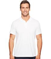 Perry Ellis - Geometric Herringbone Pattern Three-Button Polo Shirt