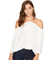 1.STATE - Cold Shoulder Tiered Sleeve Blouse