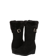 kensie girl Kids - Suede Fur Topped Wedge Boot (Little Kid/Big Kid)