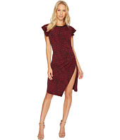 MICHAEL Michael Kors - Cheetah Ruffle Sleeve Dress