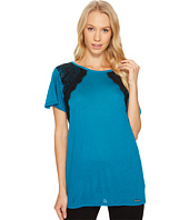 MICHAEL Michael Kors - Lace Short Sleeve Crew Neck Top