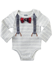 Mud Pie - Long Sleeve Crawler with Bow Ties (Infant)