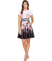 Ted Baker - Valerey Painted Posie Halter Skater Dress