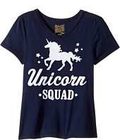 The Original Retro Brand Kids - Unicorn Squad V-Neck Short Sleeve Tee (Big Kids)