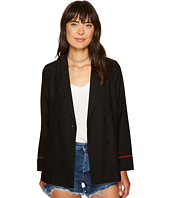 XOXO - Embroidered Long Sleeve Double Breasted Jacket