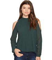 XOXO - Pleated Cold Shoulder Blouse
